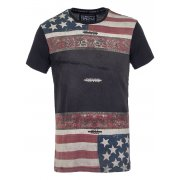 Sinstar Flag Tee Faded Black