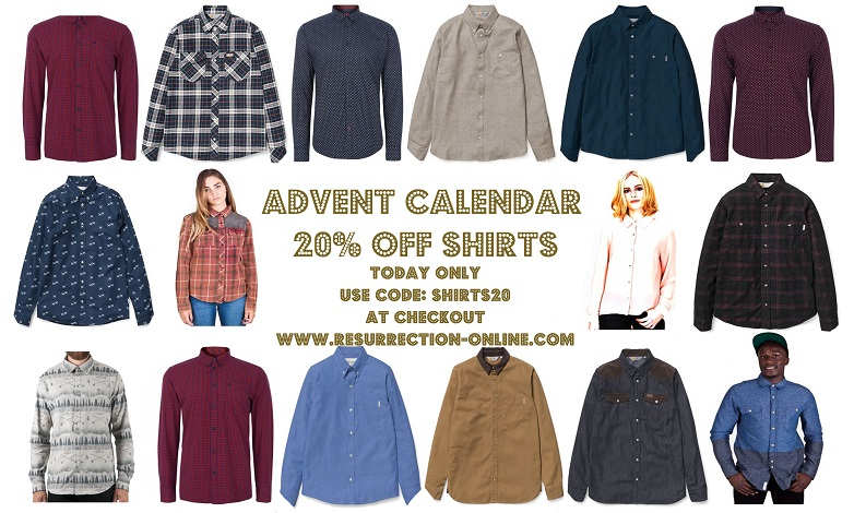Advent 20% Off Shirts Offer