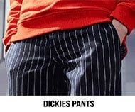 Dickies pants banner