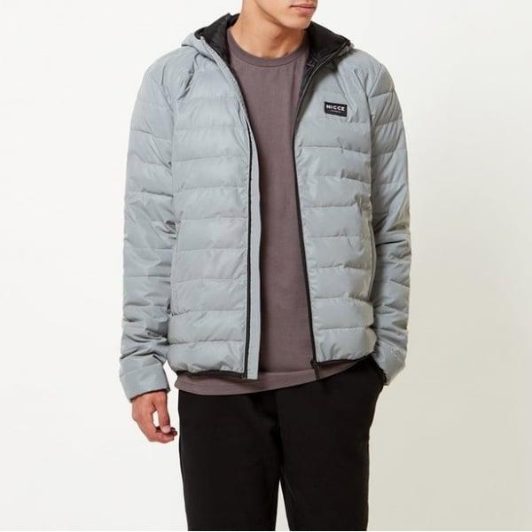 Buy Nicce Pathway Puffa Coat Reflective