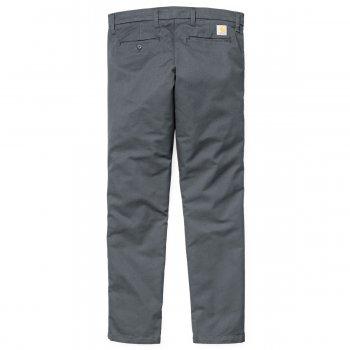 Carhartt Sid Pants Chinos in blacksmith grey rinsed Lamar stretch 8.6 oz cotton