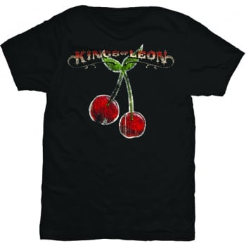 Rock Off Kings Of Leon Cherries Tshirt in Black