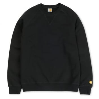 Carhartt Wip Chase Sweat in Black/gold