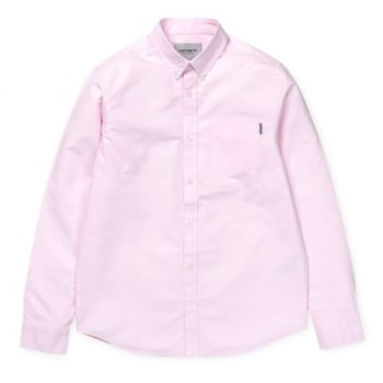 Carhartt Wip L/s Button Down Pocket Shirt in Vegas Pink