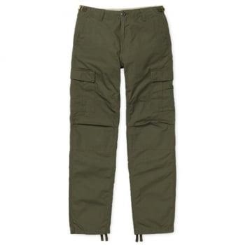 Carhartt Wip Aviation Pants in Cypress Rinsed