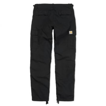 Carhartt Wip Aviation Pants in Black Rinsed