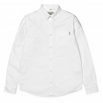 Carhartt Wip L/s Button Down Pocket Shirt in White