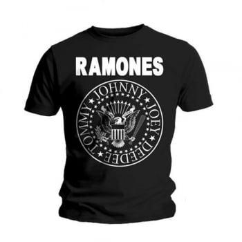 Rock Off Ramones Seal T Shirt Black