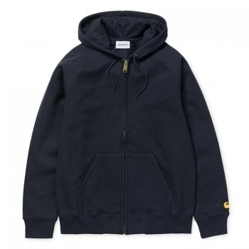 Carhartt Wip Hooded Chase Jacket Dark Navy/gold