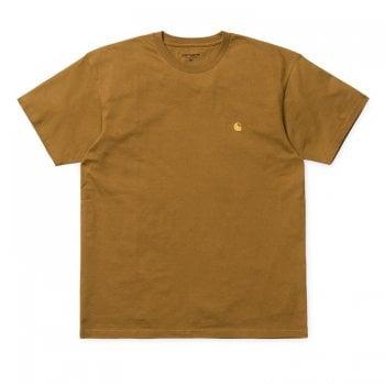 Carhartt Wip S/s Chase Tshirt Hamilton Brown/gold