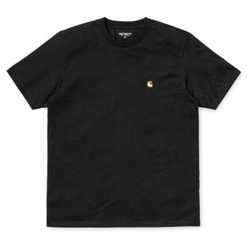Carhartt Wip S/s Chase Tshirt Black/gold