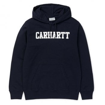Carhartt Wip Hooded College Sweat Dark Navy/white