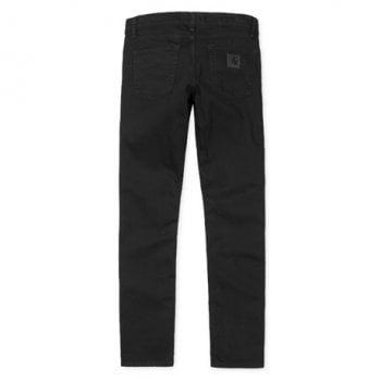 Carhartt Wip Rebel Pants in Black Rinsed Margate stretch denim