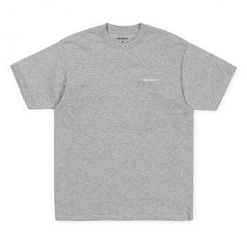 Carhartt Wip S/s Script Embroidery T-shirt Grey Heather