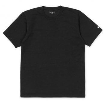 Carhartt Wip short sleeved Base T shirt in black with white Carhartt C logo.
