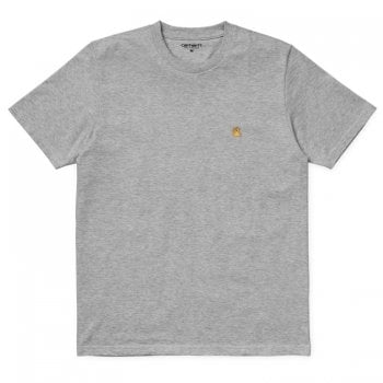 Carhartt Wip S/s Chase Tshirt Grey Heather/gold