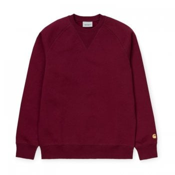 Carhartt Wip Chase Sweat Cranberry/gold