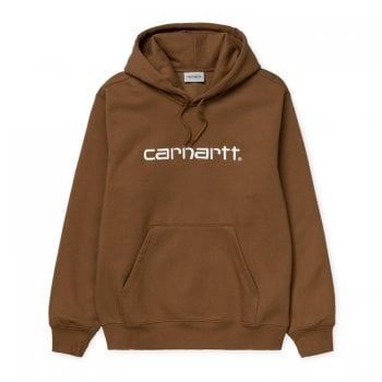 Carhartt Wip Hooded Carhartt Sweat Hamilton Brown/white