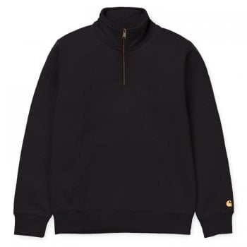 Carhartt Wip Chase Neck Zip Sweat Black/gold
