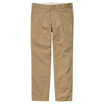 Carhartt Wip Master Pant in Leather Rinsed Denison twill