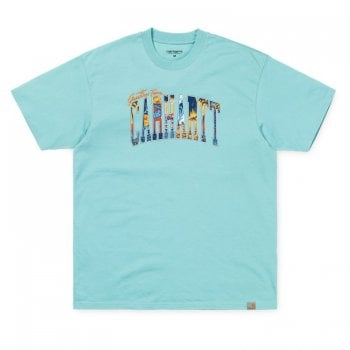 Carhartt Wip S/s Greetings From Tshirt Soft Aloe