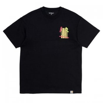 Carhartt Wip S/s Burning Palm Beach Tshirt Black