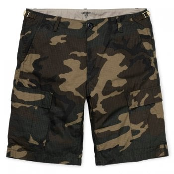 Carhartt Wip Aviation Shorts Camo Laurel Rinsed