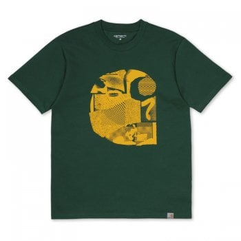 Carhartt Wip S/s Cut Out Tshirt Chrome Green/yellow