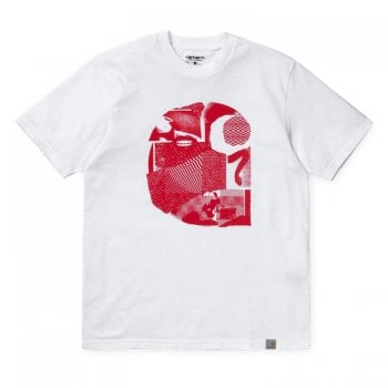 Carhartt Wip S/s Cut Out Tshirt White/red