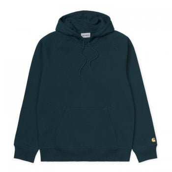 Carhartt Wip Hooded Chase Sweat Duck Blue/gold