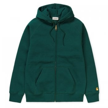 Carhartt Wip Hooded Chase Jacket Dark Fir/gold