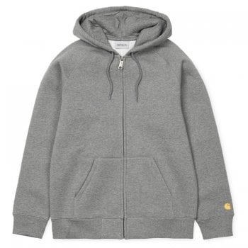 Carhartt Wip Hooded Chase Jacket Dark Grey Heather/gold