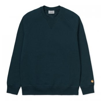 Carhartt Wip Chase Sweat Duck Blue/gold