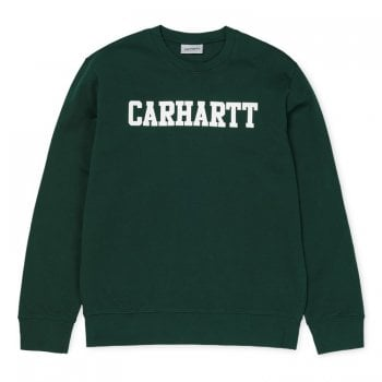 Carhartt Wip College Sweat Dark Fir/white