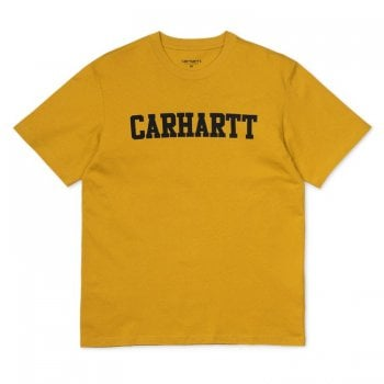 Carhartt Wip S/s College Tshirt Colza/black