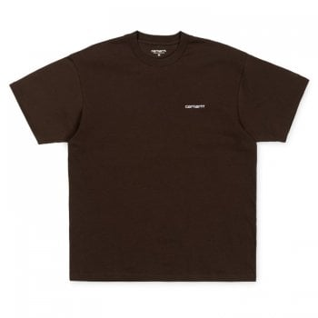 Carhartt Wip S/s Script Embroidery T-shirt Tobacco/white