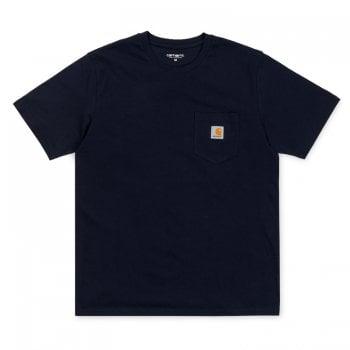 Carhartt Wip short sleeved Pocket T-shirt in Dark Navy