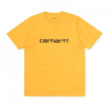 Carhartt Wip Script T Shirt Sunflower/black