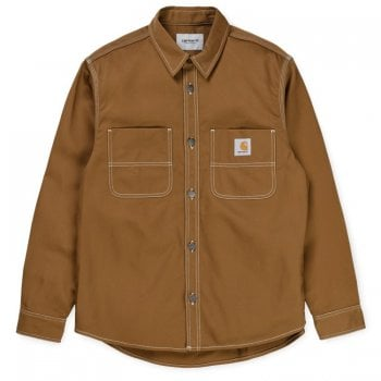 Carhartt Wip Chalk Shirt Jac Hamilton Brown
