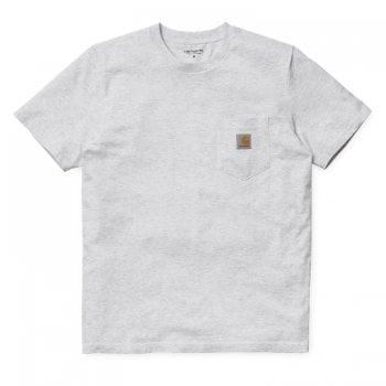 Carhartt Wip short sleeved Pocket T-shirt in Ash Heather