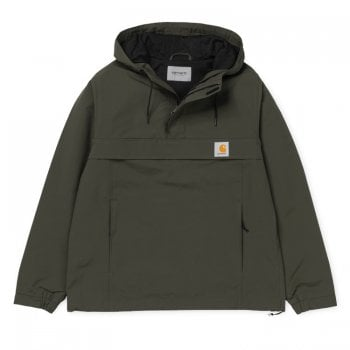 Carhartt Wip Nimbus Pullover in Cypress water repellent Teflon coated fabric