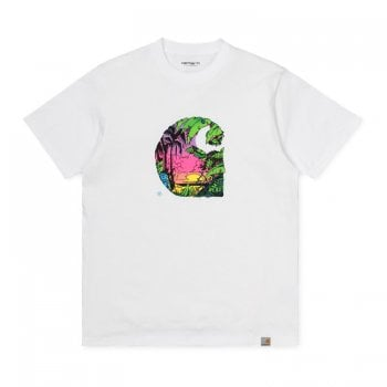 Carhartt Wip S/s Sunset C T Shirt White