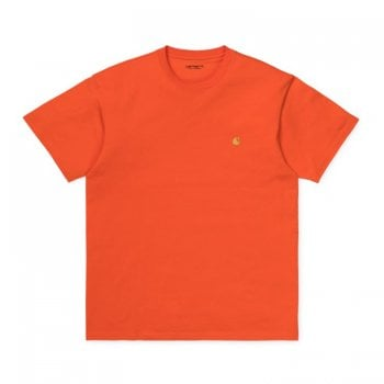 Carhartt Wip S/s Chase Tshirt Clockwork/gold