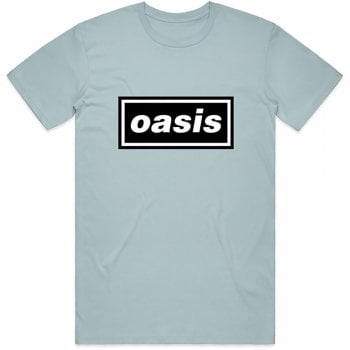 Rock Off Oasis Decc Logo T Shirt Light Blue