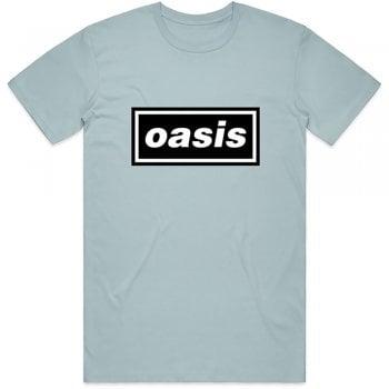 Rock Off Oasis Decc Logo T Shirt Light Blue