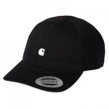Carhartt Wip Madison Logo Cap Black with white embroidered Carhartt C logo