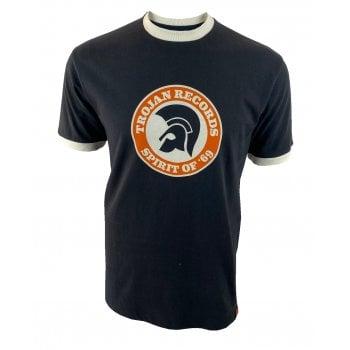 Ska And Soul Trojan Logo T Shirt Black