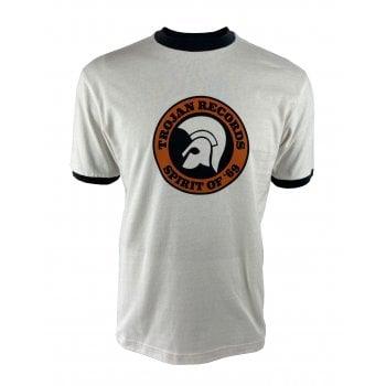 Ska And Soul Trojan Logo T Shirt Ecru/black