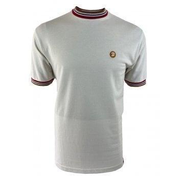 Trojan Small Badge T Shirt Ecru