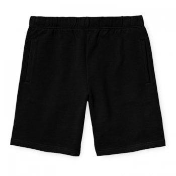 Carhartt Wip Pocket Sweat Shorts in Black 13.3oz 100% cotton sweat fabric